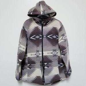 Woolrich Fleece Zip Up Hoodie Jacket Sz M